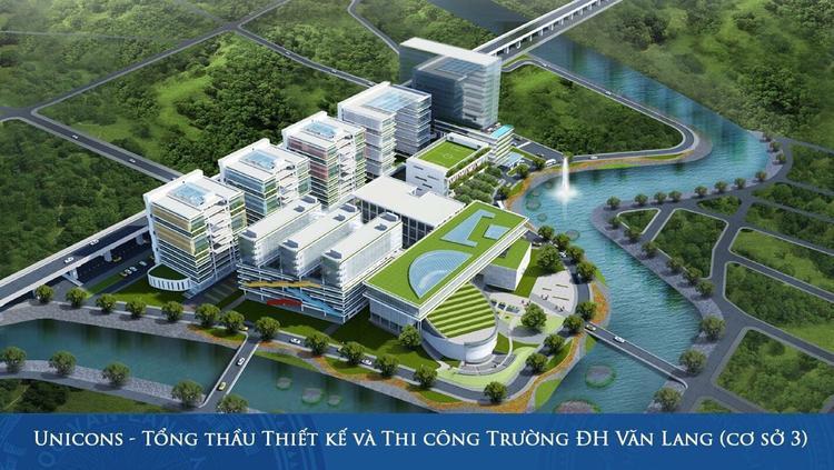 Cơ sở 3 của ĐH Văn Lang nhìn từ bản vẽ thiết kế.
