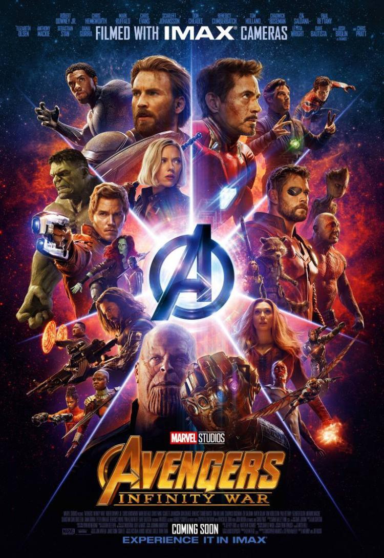 """Poster mới nhất của """"Avengers: Infinity War"""" dành cho cụm rạp IMAX."""