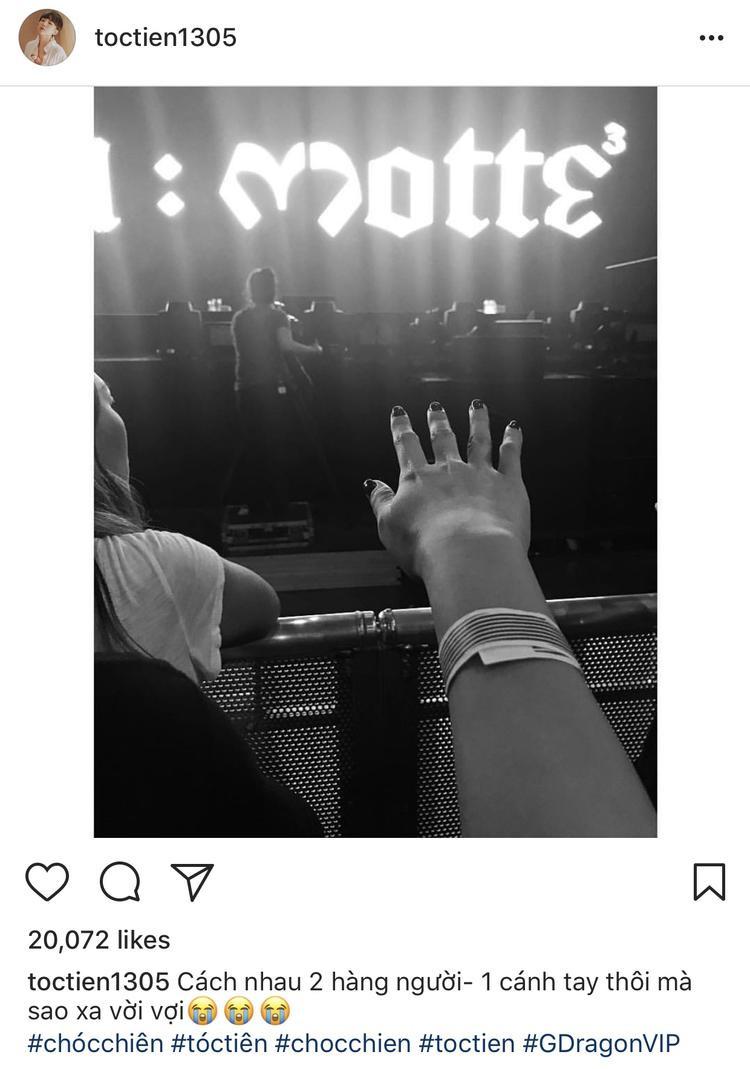 Tóc Tiên đi xem concert của G.D năm ngoái.