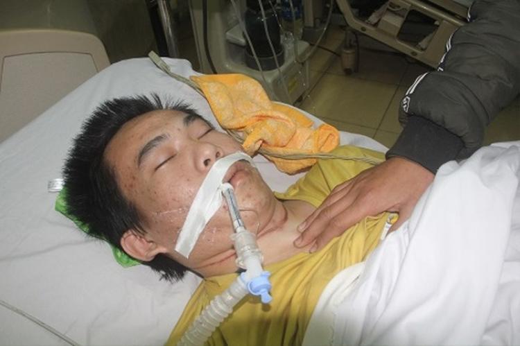 Võ Quốc Trang đang trong tình trạng nguy kịch.