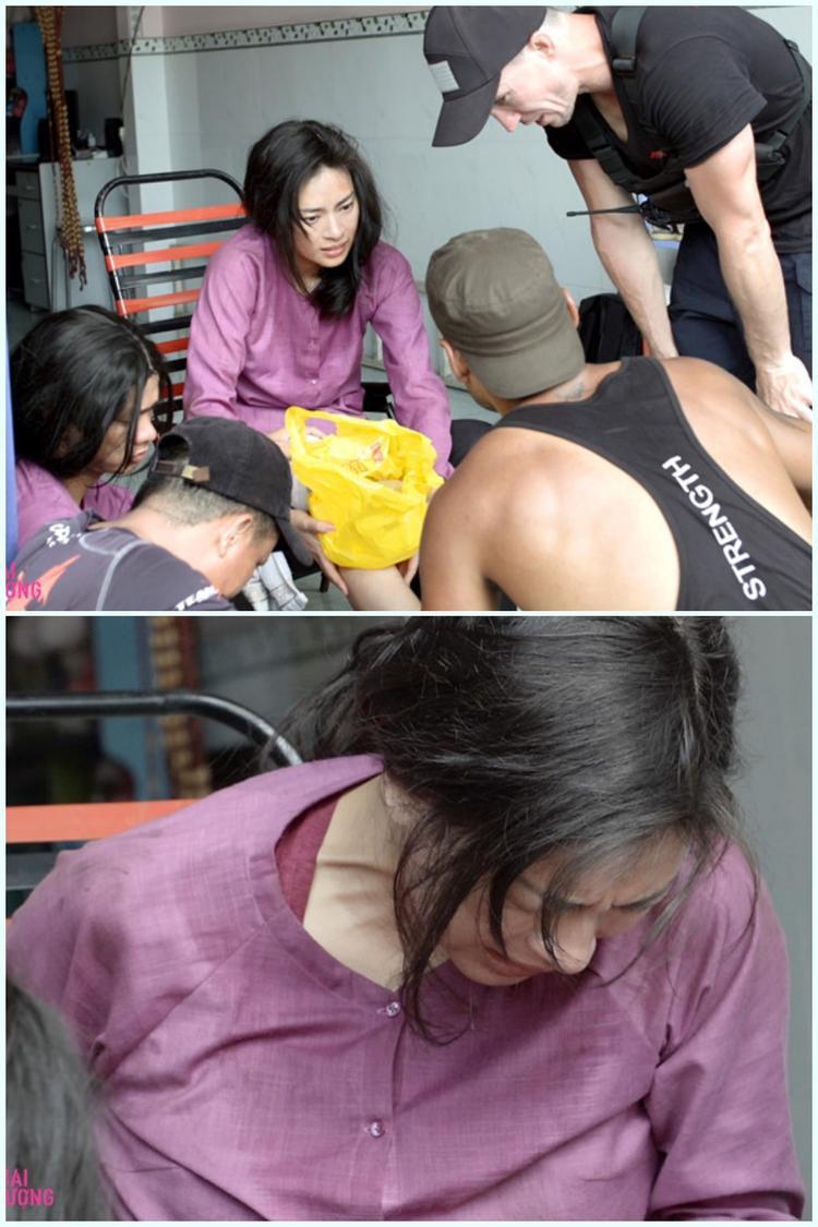 Ngô Thanh Vân đau đớn khi bị nứt xương.