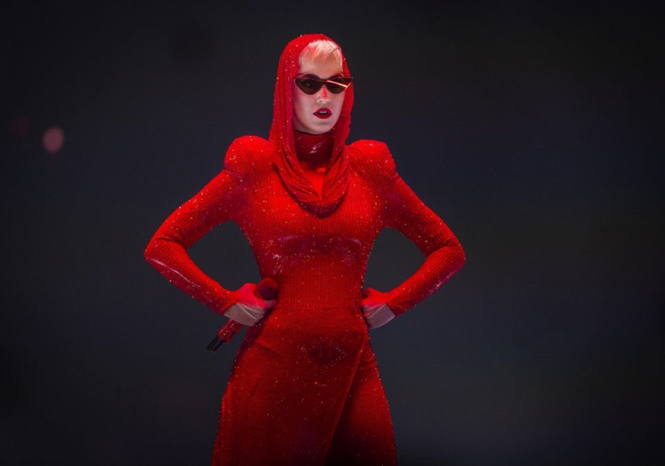 Katy Perry trong đêm diễn tối hôm qua tại Singapore Indoor Stadium.