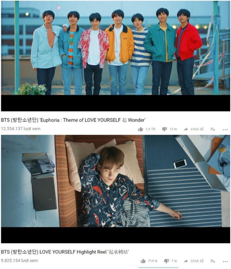 Nếu bạn thắc mắc độ phủ sóng của BTS đã lan rộng như thế nào trong thời gian qua thì hãy nhìn vào đây. Dù chỉ mới 4 ngày nhưng lượng view teaser này đã vượt qua teaser phát hành 7 tháng trước dù cả 2 clip đềucó thời lượng ngang bằng.