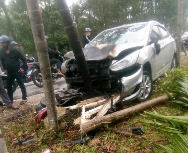 Hiện truờng xảy ra vụ tai nạn.