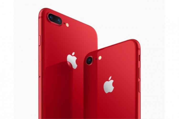 iPhone 8 và iPhone 8 Plus (PRODUCT)RED Special Edition nằm trong chiến dịch liên quan đến nâng cao nhận thức cộng đồng và phòng chống HIV/AIDS tại Châu Phi của Apple và (RED).