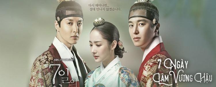 """Poster của phim """"7 Ngày Làm Vương Hậu""""."""
