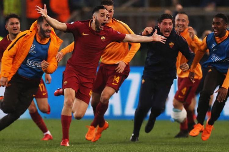 AS Roma gây chấn động khi đánh bại Barca với tỷ số 3-0.