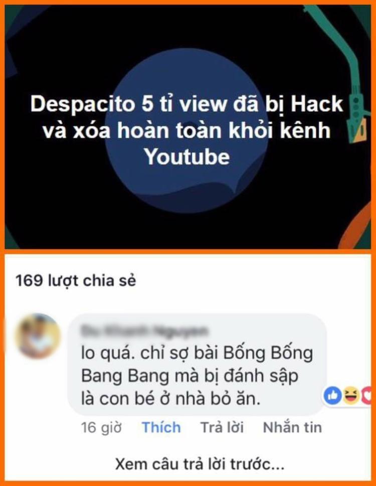 DùDespacito bị hack là thông tin chính nhưng dòng chia sẻ hài hước bên dưới của 1 vị phụ huynh mới là điều làm người ta quan tâm hơn cả.