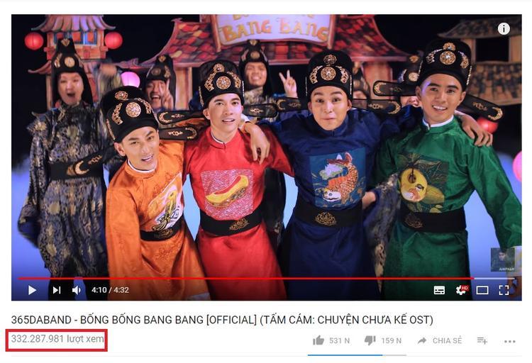 Bống bống bang bang đã có hơn 332 triệu view Youtube, là MV có số view cao nhất Việt Nam hiện tại.