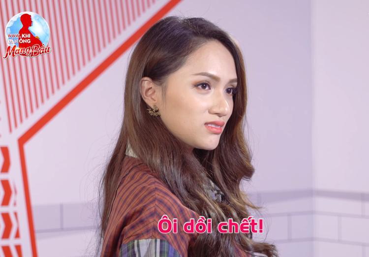 Phản ứng bàng hoàng của bà bầu Hương Giang khi nhận hung tin.