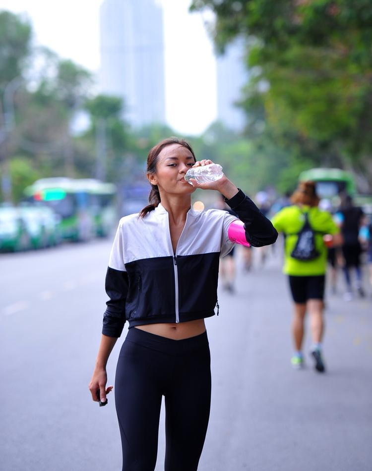 Mai Ngô tham gia chạy bộ trong một sự kiện vào cuối tuần qua.