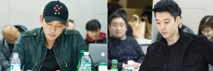Bi Rain (trái) và Lee Dong Gun (phải).