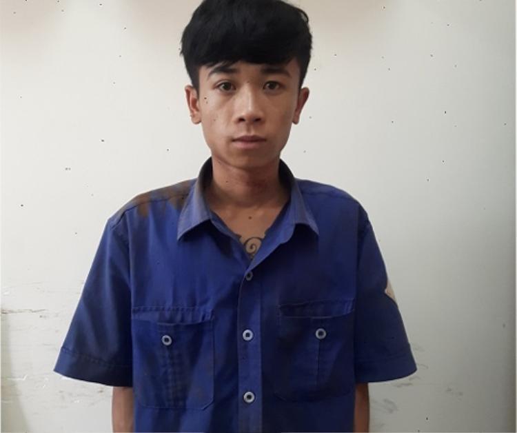 Nguyễn Như Lai tại cơ quan điều tra. Ảnh: Công an cung cấp.