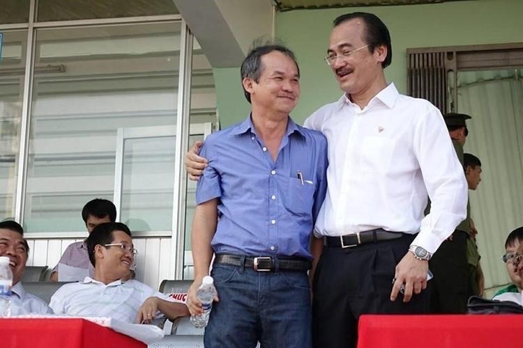 Hai ông bầu nổi tiếng của bóng đá Việt Nam.