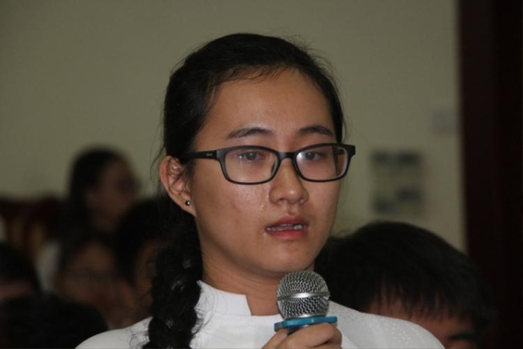 Em Phạm Song Toàn trong buổi đối thoại với lãnh đạo Sở GD&ĐT TP.HCM