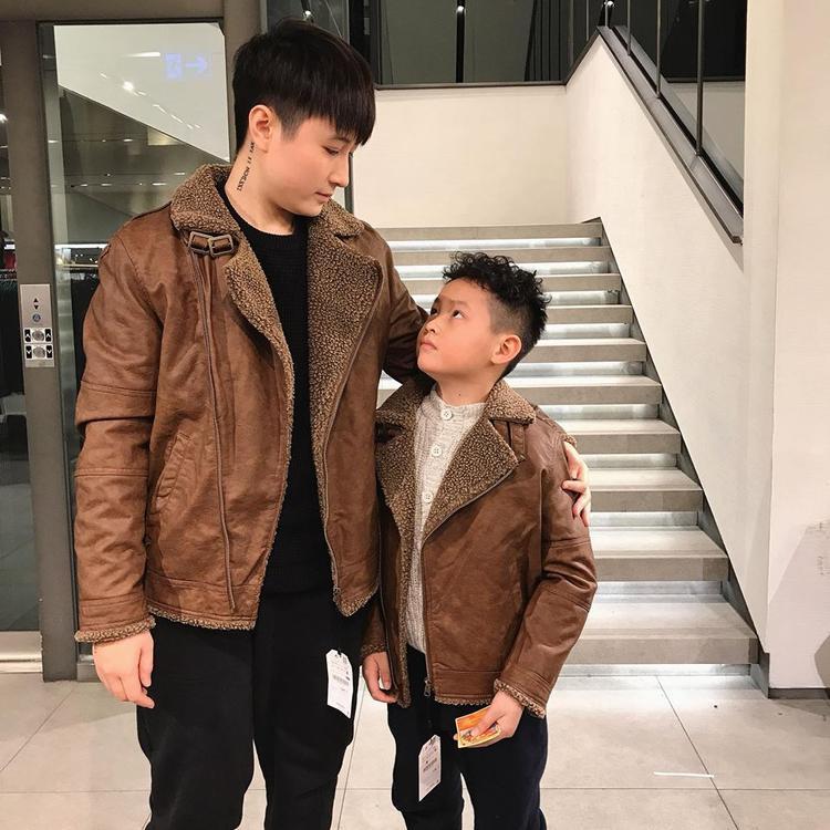 Lin Jay và bé Tôm.