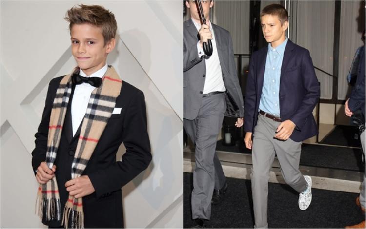 Romeo Beckham - đứa trẻ đam mê thời trang từ bé có vẻ không thay đổi nhiều, vẫn gương mặt góc cạnh, dáng người dong dỏng cao và gout ăn mặc lịch lãm không lẫn vào đâu được.