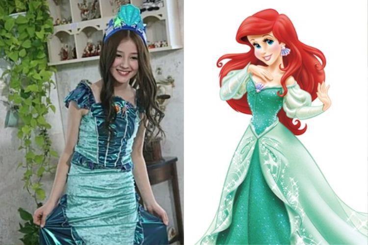 """Nancy cũng cực """"crush"""" nàng công chúa Ariel của Disney."""