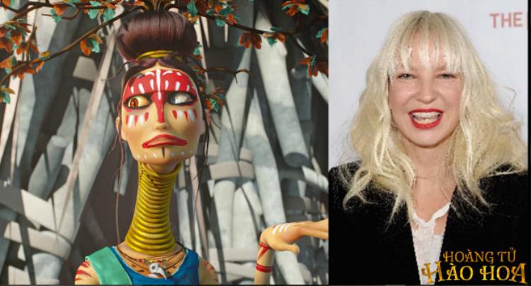 Sia lồng tiếng cho nhà tiên tri khổng lồ một mắt của bộ tộc ăn thịt người