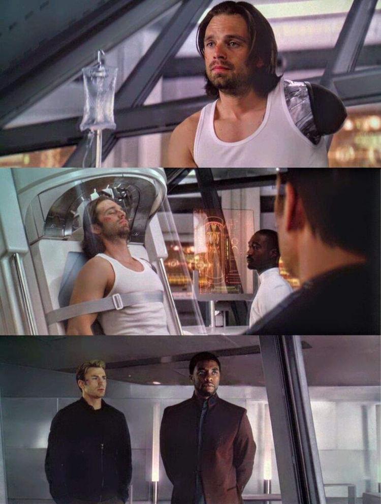 Bucky được chữa trị an toàn tại Wakanda đứng đầu bởi không ai khác ngoài T'Challa.