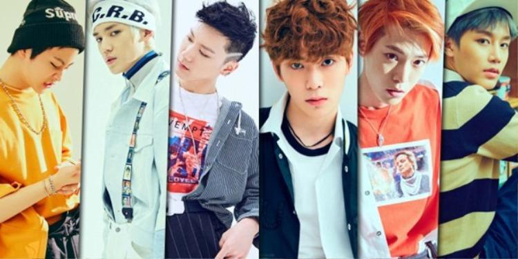 Các thành viên của NCT U: Mark (Canada), Taeyong (Hàn Quốc), Ten (Thái Lan), Jaehyun, Doyoung, Taeil (Hàn Quốc).