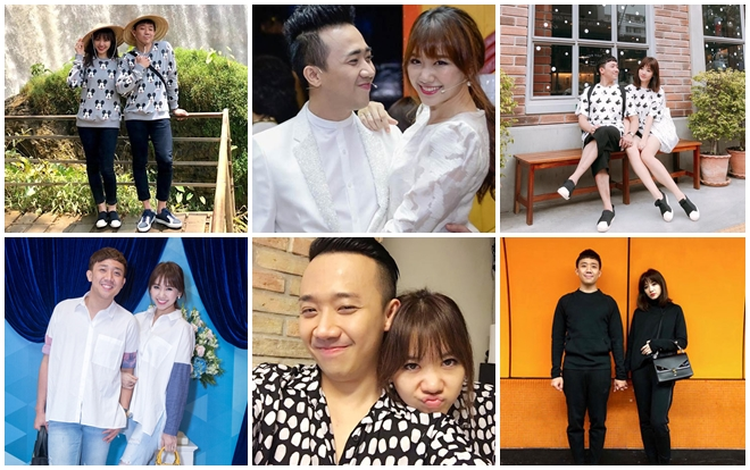 Nếu có một cuộc bình chọn những cặp vợ chồng chăm diện đồ đôi nhất Vbiz chắc chẳng ai qua mặt được Trấn Thành - Hari Won.