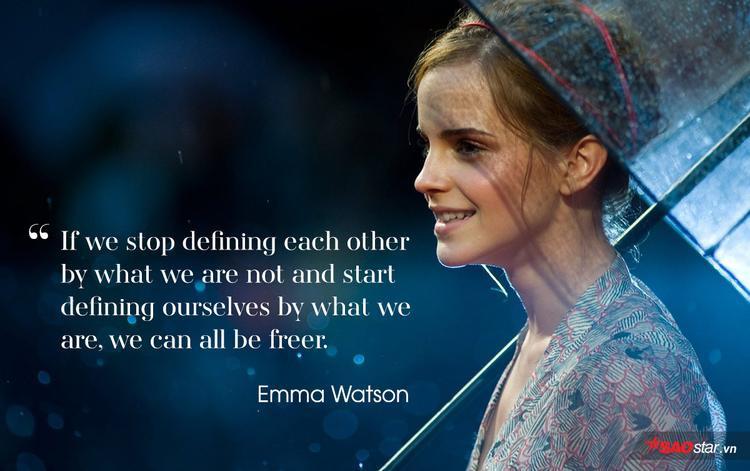 """""""Nếu chúng ta dừng việc định nghĩa nhau bằng những gì chúng ta không có và bắt đầu định nghĩa chính mình bằng những gì chúng ta đang có, tất cả chúng ta có thể được tự do hơn""""."""