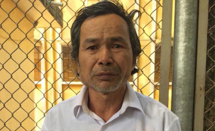 Dương Minh Sơn tại cơ quan công an.
