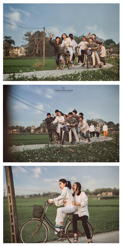 Bộ ảnh được thực hiện trong 1 ngày chủ nhật, lấy bối cảnh là làng quê.