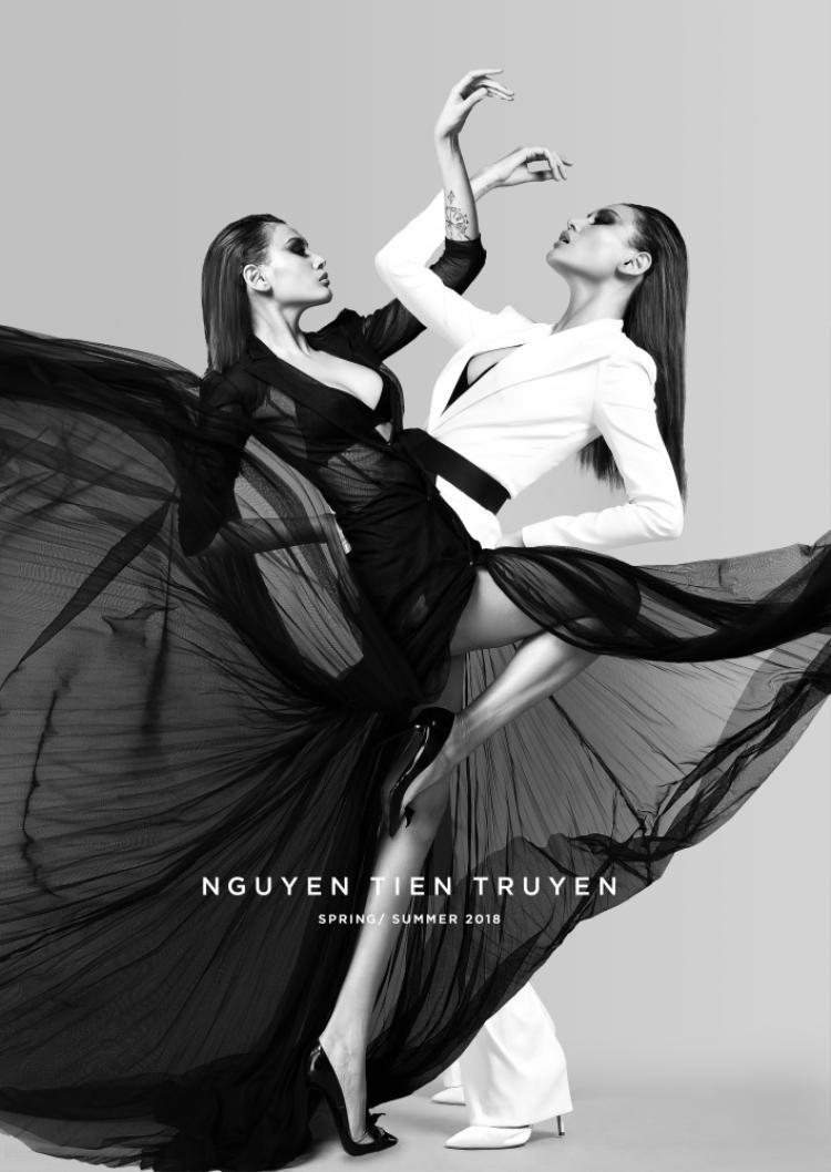 Tạo hình sắp tới của siêu mẫu Võ Hoàng Yến trong BST mang cảm hứng vị lai của Nguyễn Tiến Truyển.