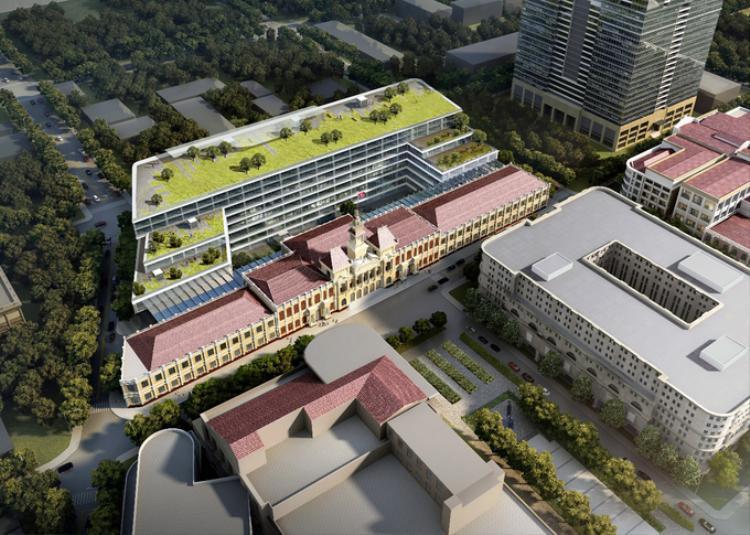 Công trình là toà nhà có 4 tầng hầm và 6 tầng nổi, bao gồm tất cả các phân khu chức năng: làm việc, tiếp dân, đón khách, thư viện, hội trường… Đây sẽ là nơi làm việc của 8 cơ quan, gồm: Văn phòng UBND TP HCM, Văn phòng Đoàn đại biểu Quốc hội và HĐND thành phố, Sở Nội vụ, Thông tin - Truyền thông, Công thương, Giao thông Vận tải, Tài nguyên - Môi trường, Ban Đổi mới doanh nghiệp. Tổng cộng có 95 phòng ban trực thuộc với khoảng 1.700 nhân sự.