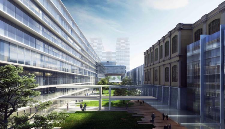 """Thiết kế của Gensler được đánh giá """"táo bạo"""" khi hạ hai tầng làm việc xuống dưới mặt đất, đưa sân vườn và ánh sáng tự nhiên xuống dưới lòng đất để giảm chiều cao công trình, khai thác tốt hơn không gian ngầm. Đặc biệt, tầng mái công trình là sân vườn góp vào khoảng xanh của thành phố. Đây cũng là nơi trữ nước mưa, dùng chăm sóc công viên trong toàn khu vực. Hai toà nhà cũ và mới được kết nối bằng khu sân vườn trung tâm với diện tích khoảng 4.000 m2. Không gian xanh ở đây sẽ làm thông thoáng cho hai tầng làm việc ngầm, và kết nối với mảng xanh của Công viên Chi Lăng, Công viên Bảo tàng lịch sử, cùng với trục đường hoa Nguyễn Huệ tạo thành điểm đến của người dân."""
