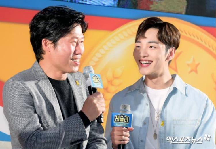 Họp báo Wrestler: 'Tiên nữ cử tạ' Lee Sung Kyung khoe sắc bên trai trẻ Kim Min Jae