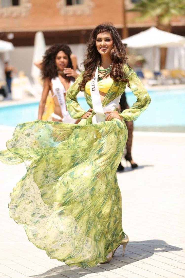 Người đẹp của Peru được đánh giá cao và là ứng viên tiềm năng cho chiếc vương miện năm nay.