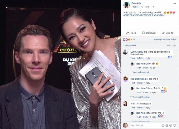 Thực hư loạt ảnh nghìn like của Bảo Anh tại họp báo ra mắt phim Avengers
