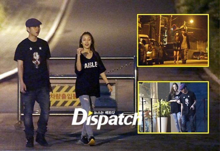 Hình hẹn hò của hai ca sĩ được Dispatch tung ra vào năm 2011.