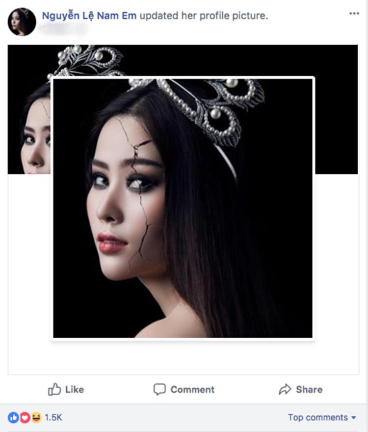 Ngay sau khi clip bị rò rỉ, Nam Em thay đổi ảnh đại diện trang cá nhân thành bức hình PR cho sản phẩm mới
