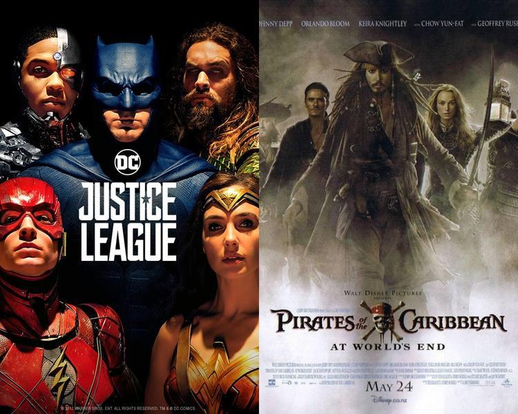 Justice League và At World's End nay phải chia sẻ ngôi á quân với Infinity War.