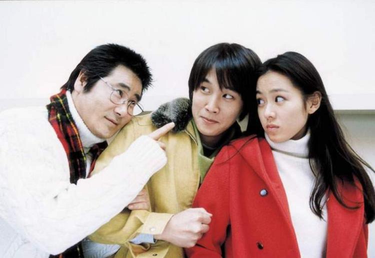 """Ông bố 3 con Cha Tae Hyun cùng """"Tình đầu quốc dân"""" trong Lovers' Concerto năm 2002."""