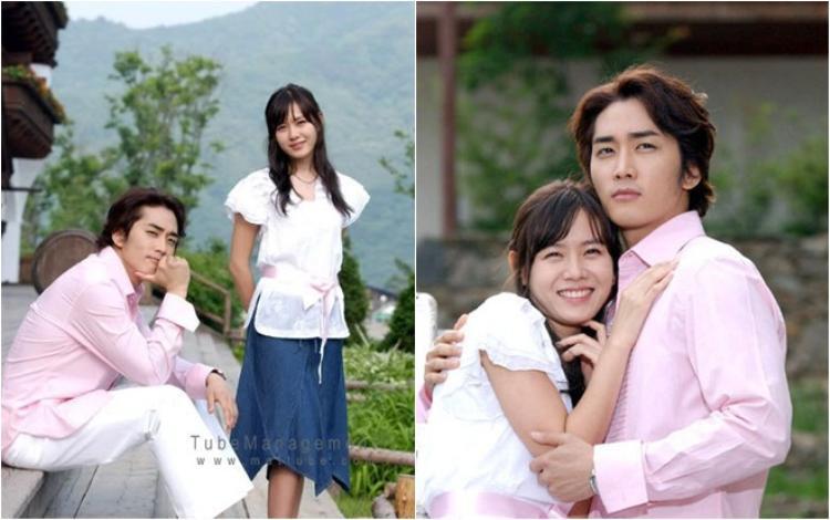 """""""Tình đầu quốc dân"""" hợp tác với """"Thần Chết"""" Song Seung Hun trong bộ phim """"Hương mùa hè"""" năm 2003."""