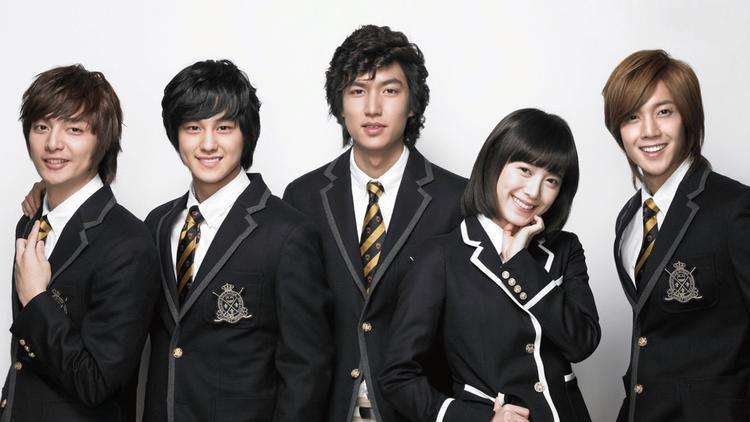 """4 cậu chủ giàu có, được mệnh danh là """"Mỹ nam đẹp hơn hoa"""" gồm Lee Min Ho, Kim Hyun Joong, Kim Bum và Kim Joon."""