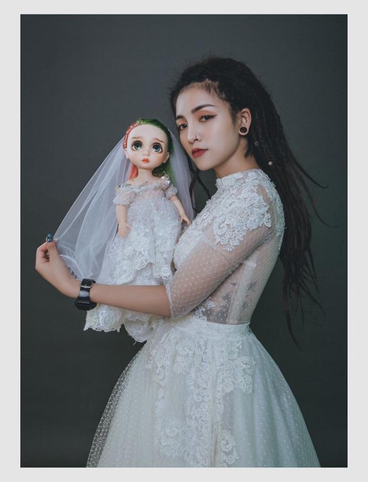 Cô dâu xinh đẹp của anh Duy.