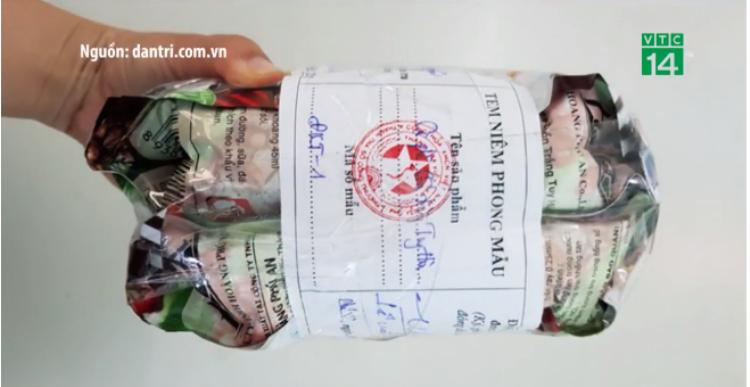 Cà phê làm giả của công ty Hoàng Phú An. Ảnh cắt từ clip.