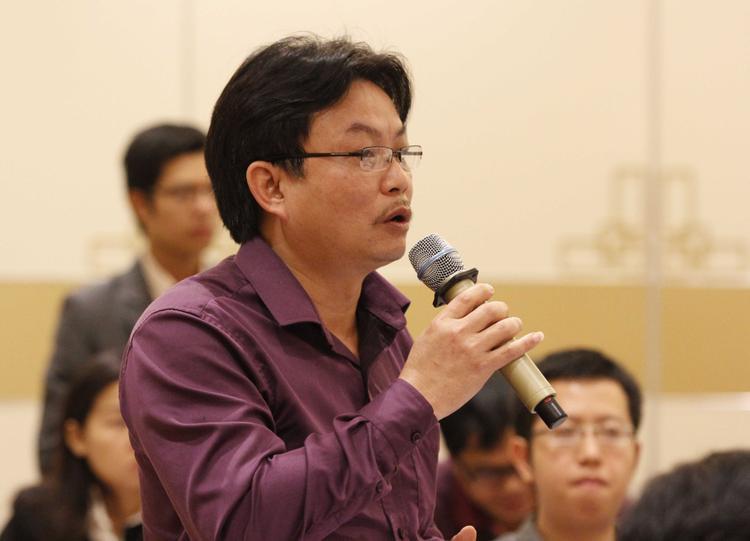 Ông Nguyễn Trọng Hoài không rõ thông tin làm phó Tổng giám đốc VPF. Ảnh: Webthethao