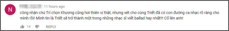 """Nhiều khán giả ủng hộ ngôi vị """"vua ballad"""" mà HLV Lê Minh Sơn dành tặng anh chàng."""