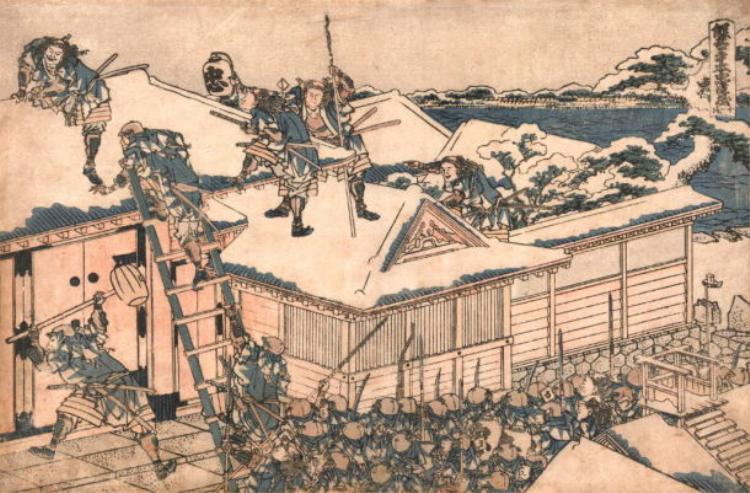 Các Samurai trèo thường vào tư dinh của Kira.
