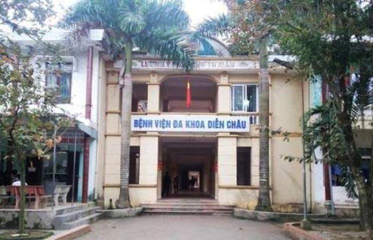 Bệnh viện đa khoa Diễn Châu, nơi xảy ra sự việc