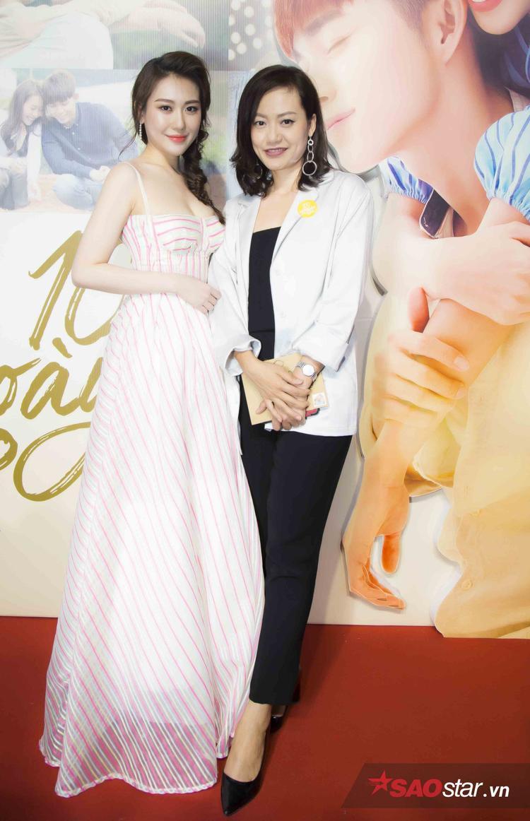 Diễn viên Hồng Ánh và hoa hậu Hoàng Kim.