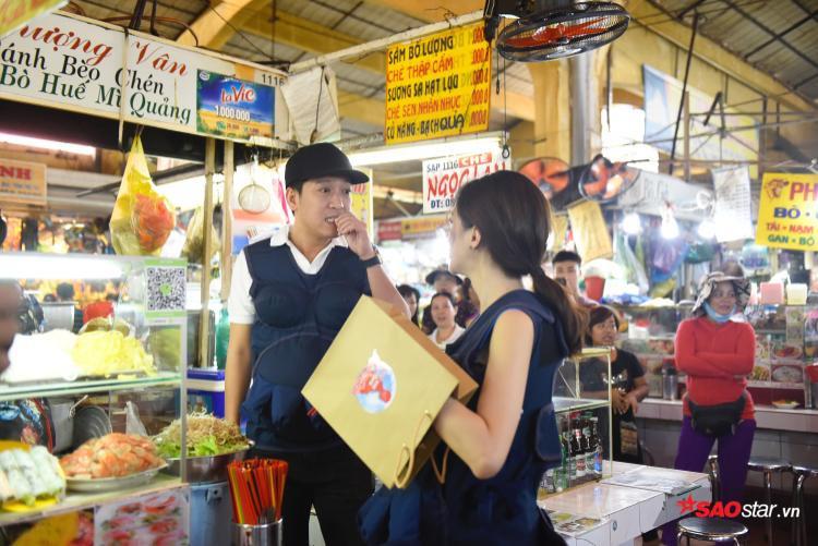 """Nam nghệ sĩ cùng """"vợ"""" Hương Giang tính toán chu đáo cho thử thách lần này."""