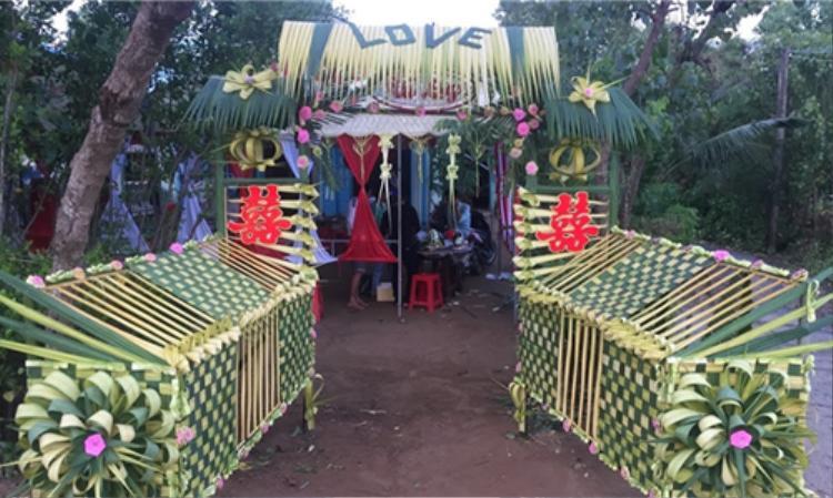 Cổng rạp lá dừa
